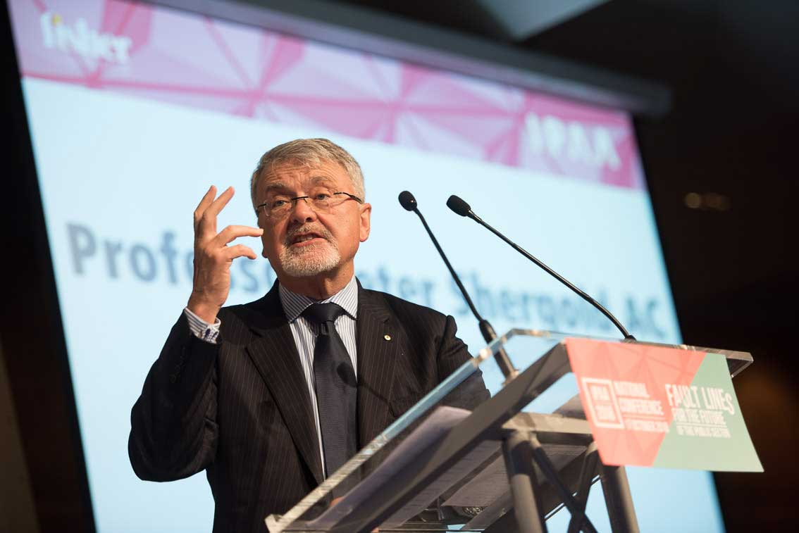 Prof. Peter Shergold AC, IPAA National President, addressing attendees at the 2018 IPAA National Conference