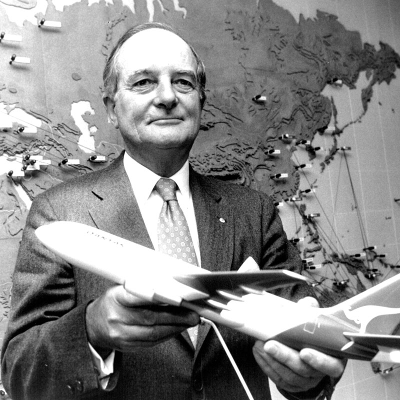 Mr Jim Leslie — Chairman, QANTAS Airways Ltd (1983)
