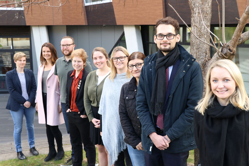 Some of IPAA's Future Shapers (left to right): Ms Samantha Gray, Ms Chelsea Brand, Mr Jack Dow, Ms Jennifer Green, Ms Kara McKee, Ms Lauri Fettel, Ms Lola Brancati, Mr Matt Greiss and Ms Rebecca Gill.