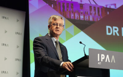 "Parkinson delivers valedictory speech to public service leaders ""of real substance"""