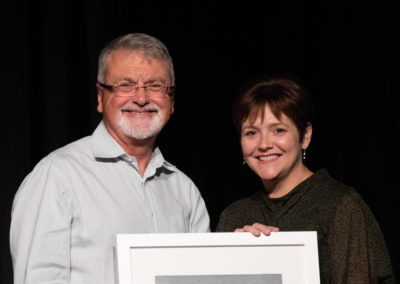 Peter Shergold with new Fellow Julie Crisp
