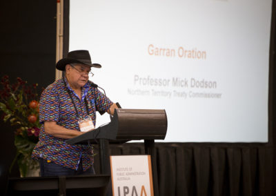 Professor Mick Dodson delivers the Garran Oration