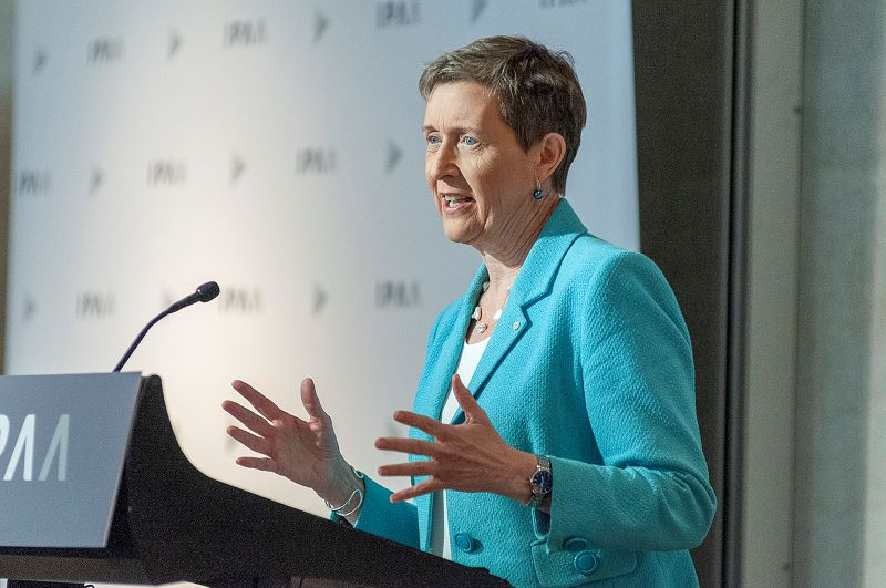 Finance Secretary Rosemary Huxtable PSM puts challenge out to public service leaders