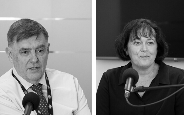 At the centre of Australia's health response to COVID-19: Brendan Murphy and Caroline Edwards