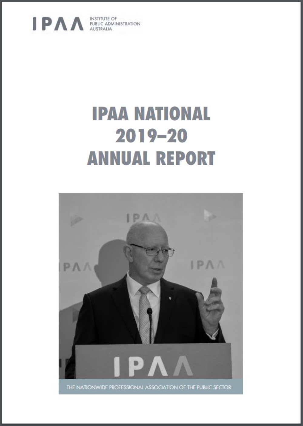 IPAA National Annual Report 2019-2020 cover